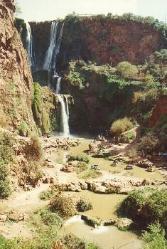 Die größten nordafrikanischen Wasserfälle