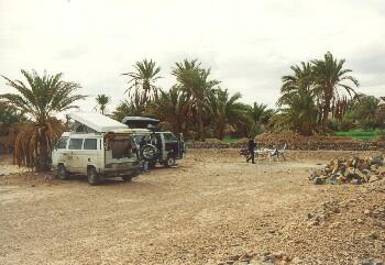 Unser Lagerplatz in Figuig