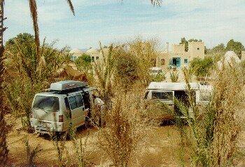 Der Campingplatz Ksar Sania am Erg Chebbi