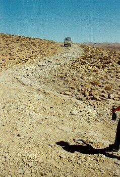Paßhöhe bei der Rundfahrt Todra - Dades