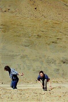 Fossilensuche auf der Paßhöhe